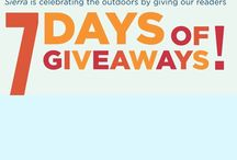 Sierra Club 7 Days of Giveaways / Enter the Sierra Club's 7 Days of Giveaway for your chance to win $200 of IYC products! The sweepstakes ends October 13th, so visit action.sierraclub.org now!