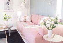 INTERIORS / Pink Sofa