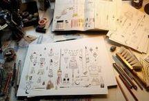 Create and Work / home decor, craft rooms, interior design, workspaces, artist studio, offices... / by Zilá Longenecker