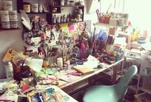 Creative Space / Ideas for your craft room or art studio.  How to organize your supplies and set up an inspiring creative space ॐ