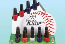 Fashion Plate / Sport our Fashion Plate shades this season for major league style! Mix and match with other OPI lacquer to create a home run mani in your team's colors. / by OPI