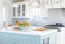 Kitchen / Kitchen inspiration -- white kitchens, kitchen sinks, kitchen layouts, kitchen backsplash, kitchen cabinets, kitchen color schemes, kitchen accessories, kitchen ideas