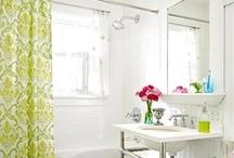 Bathroom / Bathroom inspiration -- bathroom design, bathroom lighting fixtures, bathroom tile, bathroom vanities, bathroom mirrors, bathroom color schemes, tubs, showers, toilets, paint, bathroom paint colors
