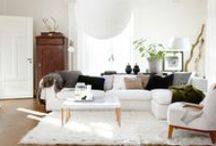 Styled Living. / A lot of white and grey fills my home - here's a collection of home decor ideas and inspirations that have caught my eye.  / by mary lou ricci