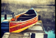 Wooden Canoe / Images of strip planked, cedar strip, and wood and canvas canoes