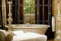 Lavish Lavatories/Beautiful Baths / Crisp & Clean to Ornately Outrageous. Relaxation station!  / by Cynthia Crump