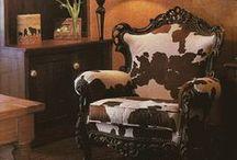 Furniture: Couture Cow / Rustic Cow Decor & Furniture. Hair & Hide  / by Cynthia Crump
