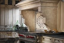 Kitchen: Range Hoods/Mantels/Arches / Kitchen focal point and design  / by Cynthia Crump