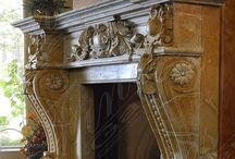 Mantel Mania / Custom and Ornate. Traditional and Old World. Stone and Wood.  / by Cynthia Crump