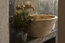 Powder Rooms & Small Bathrooms / Smaller take on luxury and beauty in el bano! / by Cynthia Crump