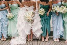 Blue wedding ideas / Dresses, hair, make up, accessories / by atraceofblue
