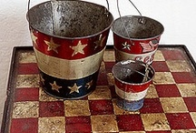 My love for Primitive and Americana Decor / by Amy Pitts Hatcher