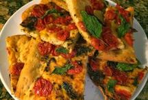 Flatbreads, Tarts and Pizzas / Recipes for all the best #Pizza #Flatbread and #Tarts. Cheesy!