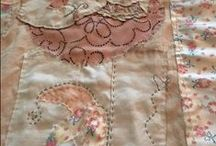 Peaceful Stitches / Slow Sewing Fabric Art by Gale Lynne