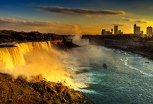Travel to Niagara Falls / Niagara Falls is the collective name for three waterfalls that straddle the international border between the Canadian province of Ontario and the U.S. state of New York. From largest to smallest, the three waterfalls are the Horseshoe Falls, the American Falls and the Bridal Veil Falls. If you want to see the natural beauty come and find some accommodation nearby on www.dealangel.com!