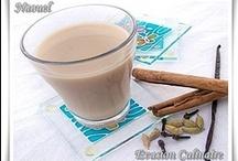 HOMEMADE DRINKS / Boissons maison: cappuccino, café, boissons detox, cocktails de fruits...