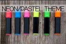 Neon/Pastel Classroom Theme / Classroom decor