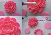 Cake Decor (Flowers-F/GP) / Fondant and Gum Paste Flower Techniques / by Michelle Towler