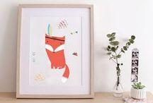 Art et renard / Idées de cadeaux artistiques avec des renards