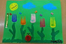 Thema: Lente.. spring / Ideeën en knutsels bij het thema lente / by Juf Ylse