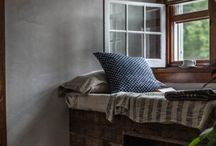 country house inspire / Inspiration for the renovation of the old schoolmasters house.  Faded florals. Easy living.  The outside bought in. Rustic baskets of wood by the fire & fresh flowers from the garden. / by Ingrid Weir