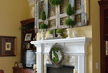 DIY Mantel Decor / Decorating your Home for the seasons, especially your mantel