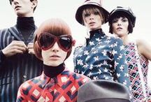 Mod. / worn by the young and fashionable in this subculture that originated in London. Mod style emphasizes a sophisticated look that included tailored suits and an androgynous look for girls.