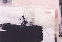 Contemporary Art. / watercolor, oil & acrylic