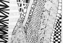 zentangles doodles lettering / 'cause I think I can draw... and I think I have time to draw...  / by Anastacia Knits Designs