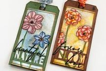 My 12 Tags Of... / Collection of tag's I've made in inspired by Tim Holtz's monthly tutorials '12 Tags of 2013/2014/2015/2016'.