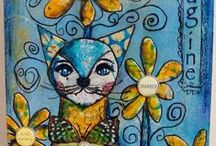 Monoprinting / Gelli art and monoprinting ideas and tutorials