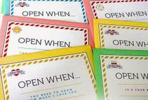Open When Letters / Ideas for writing Open When... letters