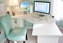 """Inspiring Home Offices / Do you work from home?  If so, I'm sure you can relate when I say A LOT of my time is spent working from my home office.  I've created this """"Inspiring Home Offices"""" board to gather and compile office décor ideas. These creative beautiful offices come from many of you fabulous bloggers out there...you guys are SOOO talented! When I start re-decorating my office, I'll have all the inspiration I need...thank you!"""