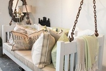 Re-Purposed Furniture Ideas / Finding inventive ways to Re-Purpose old furniture is a great way to showcase unique one-of-a-kind pieces while being cost concious and environmentally friendly.  Here are some great Re-Purposed Furniture Ideas which really have my creative juices flowing!
