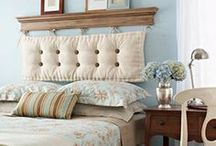 DIY Headboard Ideas / Looking for DIY Headboard Ideas?  There are so many inexpensive ways to create a unique one-of-a-kind headboard.  A decorative headboard is a great focal point and can really spruce up your bedroom. / by Denise ~ Salvaged Inspirations