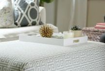 DIY Ottoman / Below are some fabulous examples of how simple and easy it is to create your very own DIY Ottoman. Ottoman's look stylish, provide additional seating yet are easily tucked away, and can even offer extra storage! Win, Win!