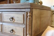 """Thrift Store Furniture Flips / I love picking up a thrift store piece of furniture priced at """"next- to-nothing"""" and custom painting it to transform it into a one-of-a-kind gem! Apparently I'm not the only one! Check out what these talented furniture flippers have done with their thrift finds!"""
