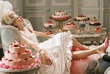 """""""Let Them Eat Cake!"""" Soirée Inspiration Board / Think Parisian, decadent, lush, whimsical, and fun! It will be a multi-sensory affair: party goers become bubbly mixologists for the night at a fun bubbly bar; will be visually enchanted and enticed to nosh on delectable sweet treats; do a fun little crafting project; and ham it up for the camera by taking pictures with theme appropriate props. Let's party like it's 1785!"""