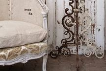 Shabby Chic Furniture / Rachel Ashwell is well known for turning shabby items into chic show stoppers. Inspiring us with her popular furniture line, here are some DIY beautifully painted shabby chic furniture! / by Denise ~ Salvaged Inspirations