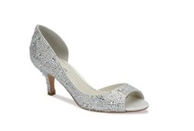 Wedding Shoes / Gone are the days of plain white bridal shoes.  Check out these gorgeous bridal shoes. Make a statement with great platforms, peep toes, crystal encrusted pumps or ballet shoes.