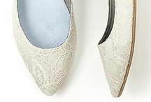 Lace Wedding Shoes / Romantic and fashion forward lace wedding shoes at http://www.BellissimaBridalShoes.com
