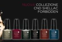 CND Shellac Forbidden Collection  / Il fascino del proibito. Atmosfere noir, proibite, misteriose. Scopri le sei nuove nuance della CND Shellac Forbidden Collection.  www.cndshellac.it