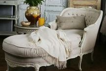 fainting couch/chaise / by Paulette Turcotte, poet, artist