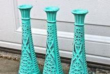 Vases & Candle sticks by Aqua Xpressions / by AquaXpressions