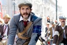 Bikers in tweed