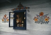 """Zalipie """" The painted village"""" / Zalipie, a village about 40 miles east of Krakow, Poland. Known as the """"Painted Village"""" after its custom of painting houses in floral designs."""