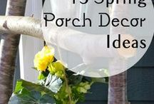 Front porch ideas! / Make your porch warm and inviting all year around!