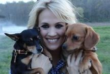 Dog People   Famous Ones / Dogs with their famous owners / by Terri Klugh