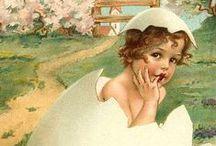 Vintage Postcards / Vintage paper greetings - Easter, St. Patricks Day and Birthday / by ~ Terri ~