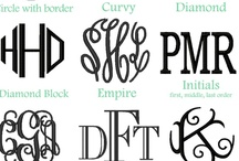 Monograms & Fonts